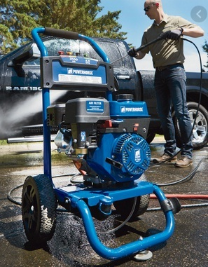 A typical gas pressure washer