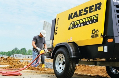Air compressors are common at construction sites.