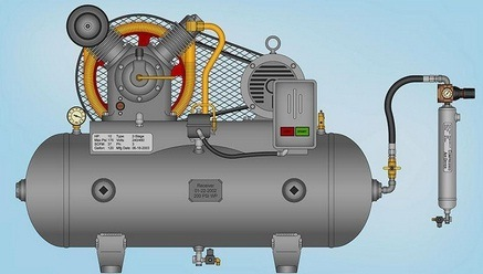 Example of a typical air compressor.