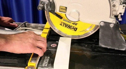 How to sharpen tile saw blade
