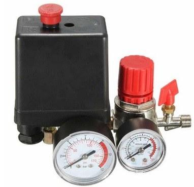 Regulator knob and pressure indicator