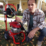 What kind of gas does a pressure washer take?